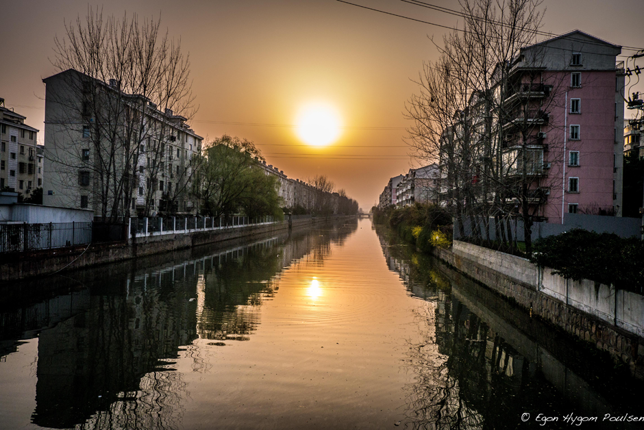 Suzhou channel sunset - New District