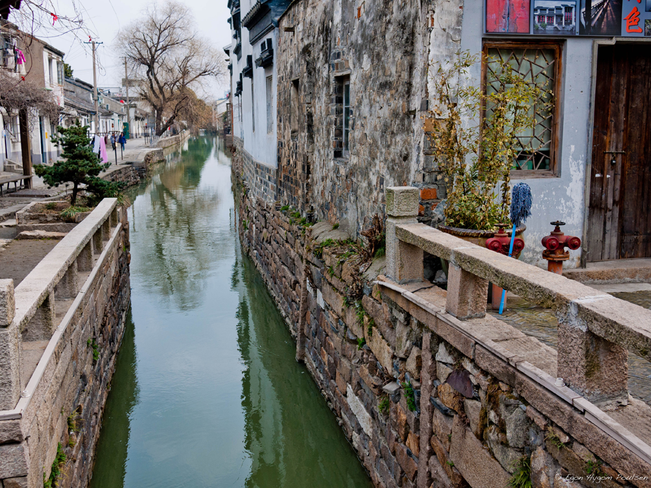 Canal with the houses in Old Suzhou - Marco Polo's »Venice of the East« - city is 2,500 years old